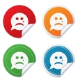 Sad face with tear sign icon Crying symbol vector image vector image