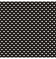 Seamless pattern white polka dots black background