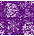 Seamless violet christmas grunge pattern vector image vector image