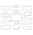 set of empty rubber stamps vector image vector image