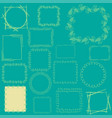 sixteen frames on the colored background vector image