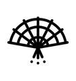 south korea fan icon outline vector image vector image