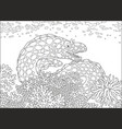 spotted moray vector image vector image