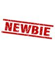 Square grunge red newbie stamp