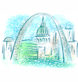 st louis vector image vector image