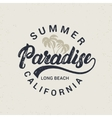 Summer paradise hand written lettering with palms vector image vector image