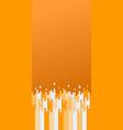 trendy orange backdrop screen background vector image vector image