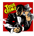 two armed criminals vector image vector image