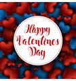 Volume 3D Realistic Red Hearts Background with vector image vector image