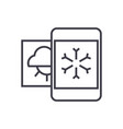weather mobile smartphone line icon sign vector image vector image