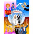 wedding celebration vector image vector image