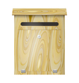 Wooden mail box with a lock on a white background vector image