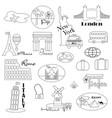 world travel digital stamps vector image