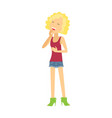 young woman laughing flat vector image vector image