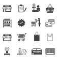 market and shopping mall icons set vector image