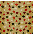seamless christmas retro pattern on crumpled paper vector image