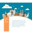 World landmarks background vector image