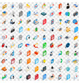 100 webdesign icons set isometric 3d style