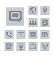 Media and communication icon set deboss theme vector | Price: 1 Credit (USD $1)