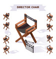 3d with director chair making vector image