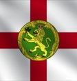 Alderney flag vector image vector image