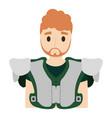american football player man vector image vector image