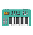 analog synthesizer flat icon music and instrument vector image