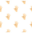 baby hand in mother hand pattern seamless vector image