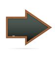 blackboard in shape arrow vector image vector image