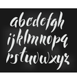Brush style alphabet vector image vector image