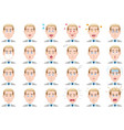businessman various facial expressions set vector image vector image