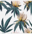 cannabis bloom plant hemp jungle floral wallpaper vector image