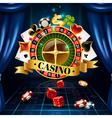 Casino Night Games Symbols Composition Poster vector image vector image