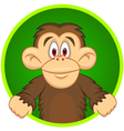 Chimpanzee carton vector image vector image