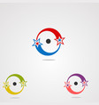 circle logo icon element and template for company vector image