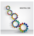 Color Gears Infographics vector image vector image