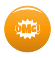 comic boom omg icon orange vector image vector image