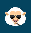 cool sheep serious avatar of emotions ewe smoking vector image vector image