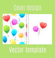 cover design with cartoon balloons pattern vector image vector image