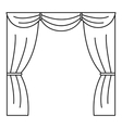 Curtain on stage icon outline style vector image vector image
