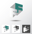 Double letter F icon vector image vector image