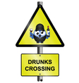 DRUNKS CROSSING vector image vector image