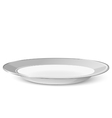 Empty classic plate isolated on a white background vector image vector image