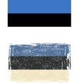 Estonian grunge flag vector image vector image