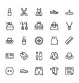 fashion line icons 6 vector image