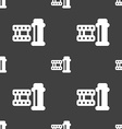 film Icon sign Seamless pattern on a gray vector image vector image