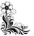 flower decorative design for invitations vector image vector image
