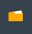 Folder icon flat design vector image vector image