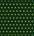 gold dots on green color abstract background vector image