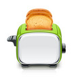 green toaster kitchen vector image vector image